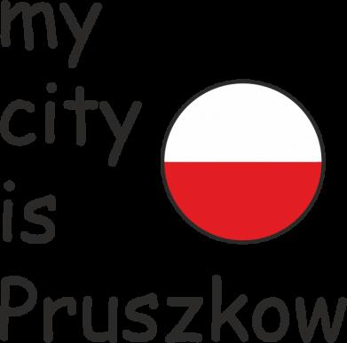 Print Baby bodysuit My city is Pruszkow - PrintSalon