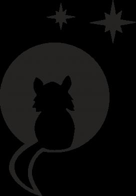 Print Etui na iPhone 11 Kot siedzi na księżycu - PrintSalon