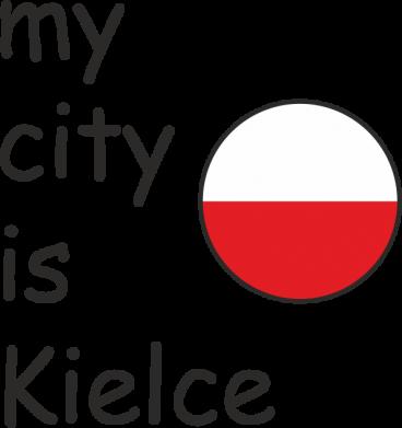 Print Baby bodysuit My city is Kielce - PrintSalon