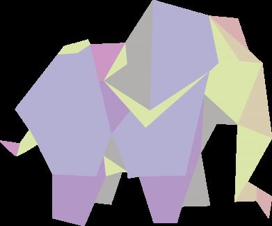 Print Bokserki męskie Elephant abstraction - PrintSalon