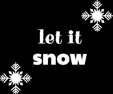 Print Sweatshirt Let it snow - PrintSalon