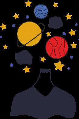 Print Sweatshirt Space in the head - PrintSalon