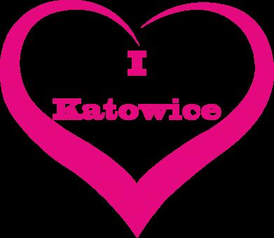 Print Baby bodysuit I love Katowice - PrintSalon