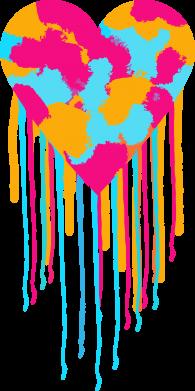 Print Etui na iPhone 11 Kolorowe serce - PrintSalon