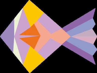 Print Notes Fish abstraction - PrintSalon