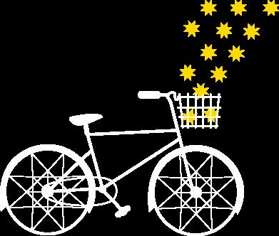 Print Sweatshirt Bike and stars - PrintSalon