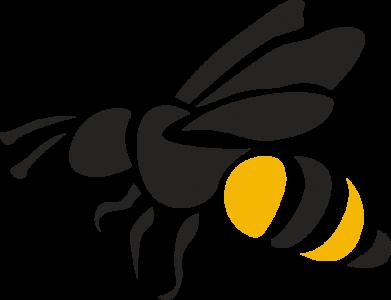 Print Notes Bee in flight - PrintSalon