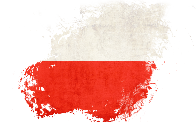 Print Damska koszulka polo Polish flag blot - PrintSalon