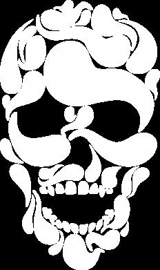 Print Sweatshirt Skull brush - PrintSalon