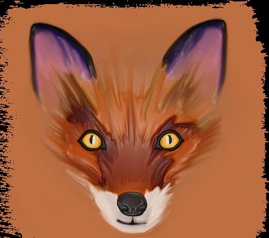 Print Etui na iPhone 11 Fox on an orange background - PrintSalon