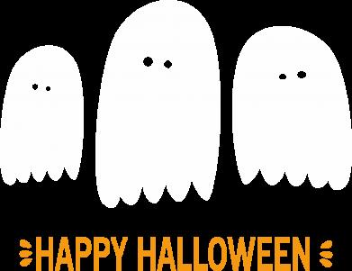 Print Notes Three ghosts Happy halloween - PrintSalon