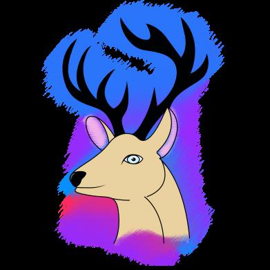 Print Water bottle Deer on a colored background - PrintSalon