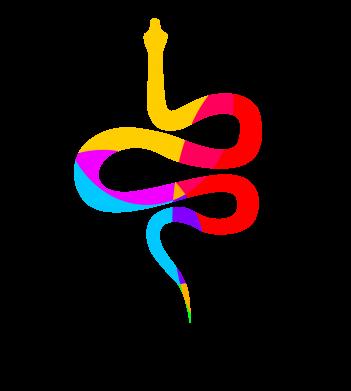 Print Etui na iPhone 11 Kolorowy wąż - PrintSalon