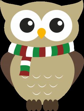 Print Water bottle Owl in a scarf - PrintSalon