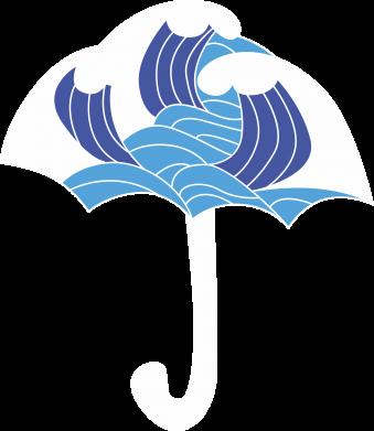 Print Bokserki męskie Umbrella with waves - PrintSalon