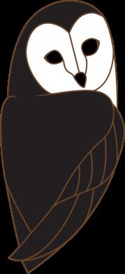 Print Men's Polo shirt Black owl - PrintSalon