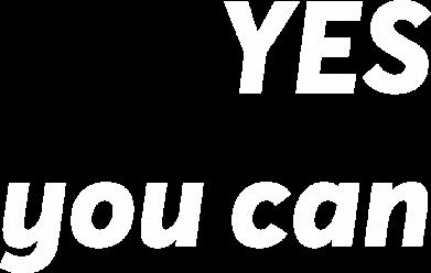 Print Męska bluza z kapturem YES you can - PrintSalon