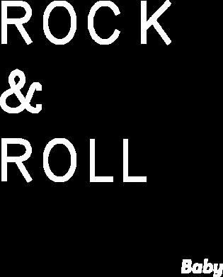 Print Plecak z przednią kieszenią Rock & Roll Baby - PrintSalon