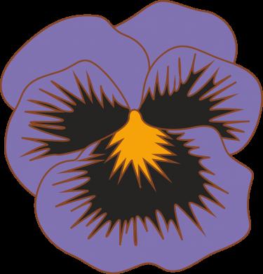 Print Sweatshirt Pansy Flower - PrintSalon