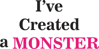 Print Kubek-kameleon I've created a monster pink - PrintSalon