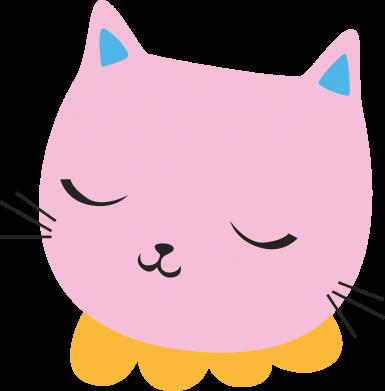 Print Men's Polo shirt Pink cat - PrintSalon