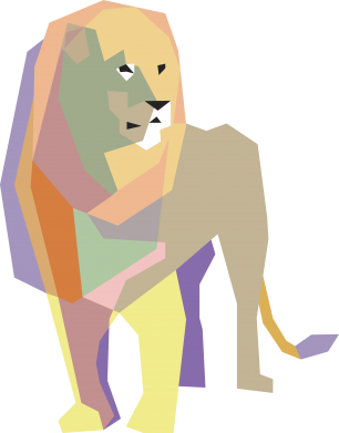Print Bokserki męskie Lion graphics - PrintSalon