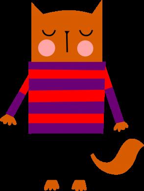 Print Men's Polo shirt Red cat in a sweater - PrintSalon