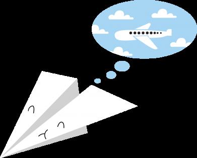 Print Men's Polo shirt Paper plane dreams of flying - PrintSalon