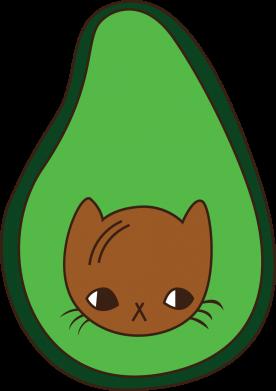 Print Bokserki męskie Cat in avocado - PrintSalon