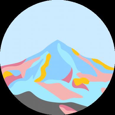 Print Bokserki męskie Mountains in a circle - PrintSalon