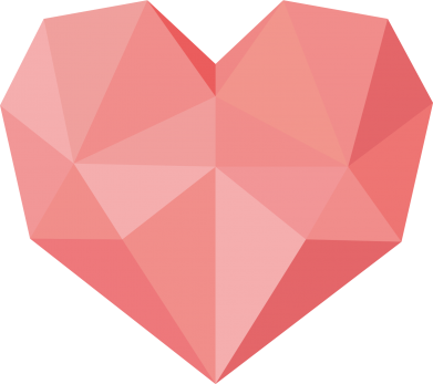 Print Bokserki męskie Pink heart graphics - PrintSalon