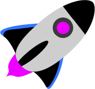 Print Bokserki męskie Rocket in space - PrintSalon