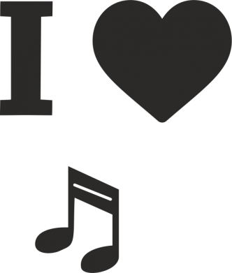 Print Mug 330ml I love music - PrintSalon