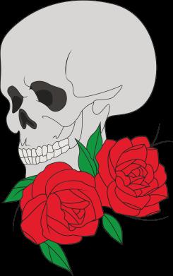 Print Sweatshirt Skull in flowers - PrintSalon