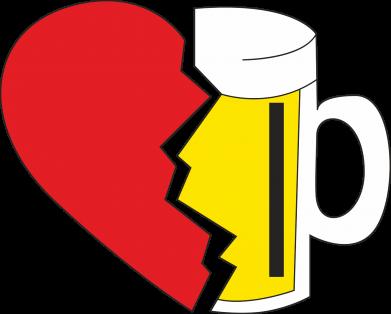 Print Sweatshirt Beer broke the heart - PrintSalon