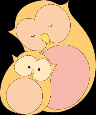 Print Bokserki męskie Mom owl and baby owl - PrintSalon
