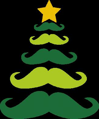 Print Bokserki męskie Mustache Christmas Tree - PrintSalon