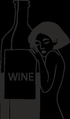 Print Phone case for Samsung S10 Girl hugging a bottle of wine - PrintSalon