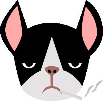 Print Bokserki męskie Bulldog smoking - PrintSalon