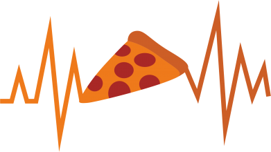 Print Notes Pizza cardiogram - PrintSalon