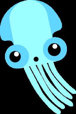 Print Bokserki męskie Cute blue jellyfish - PrintSalon
