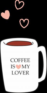 Print Bokserki męskie Coffee is my lover - PrintSalon