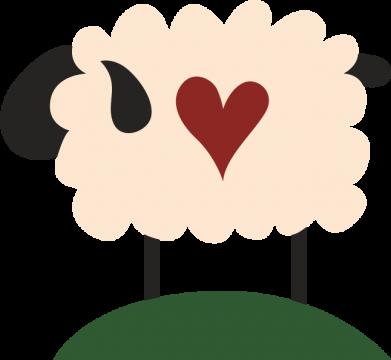Print Bokserki męskie Sheep with heart - PrintSalon
