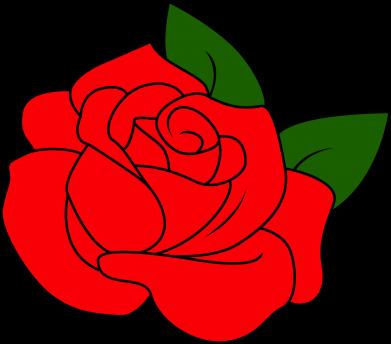 Print Damska koszulka polo Rose with leaves - PrintSalon