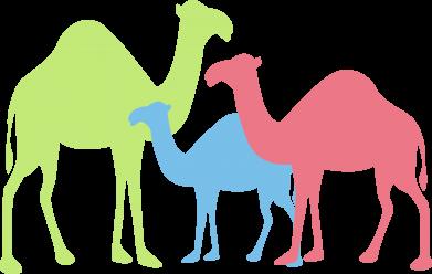 Print Men's Polo shirt Camel family - PrintSalon