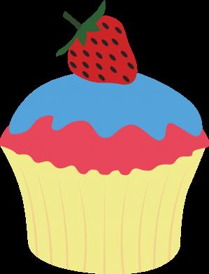 Print Bokserki męskie Strawberry Cupcake - PrintSalon