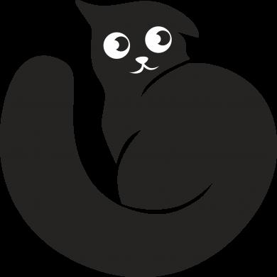 Print Men's Polo shirt Very black cat is watching you - PrintSalon