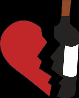 Print Bokserki męskie Wine broke my heart - PrintSalon