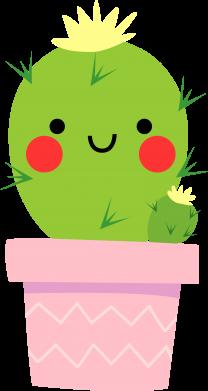 Print Bokserki męskie Śliczny uśmiechnięty kaktus - PrintSalon