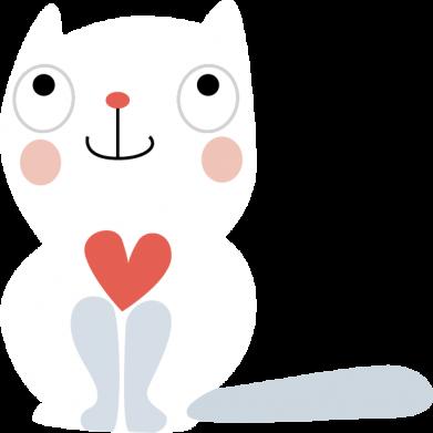 Print Bokserki męskie Cat with a big heart - PrintSalon